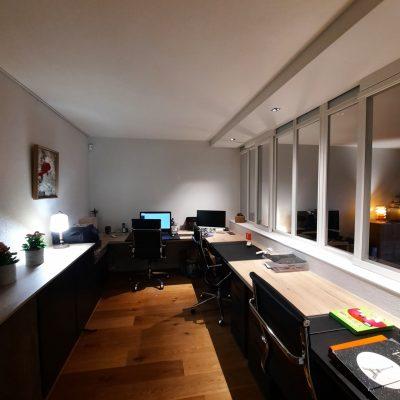 Création d'un Home Office avec une verrière bois